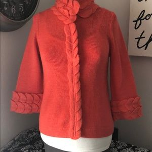🍀🍀Anthro Moth sweater Spring ready!